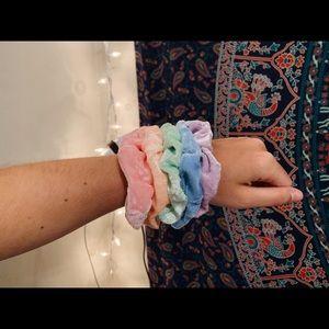 velvet scrunchie pack | pastel